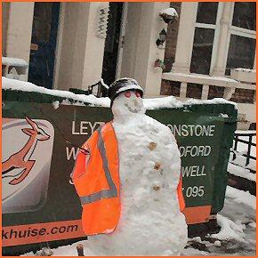A british snowman
