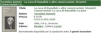 Antonio Tarantino - La casa di Ramallah...