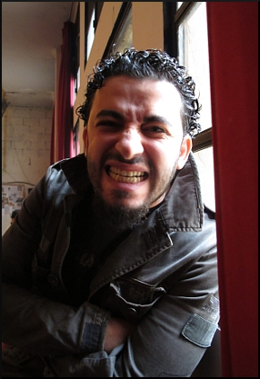Uno dei partecipanti al laboratorio di Punzo a Beirut