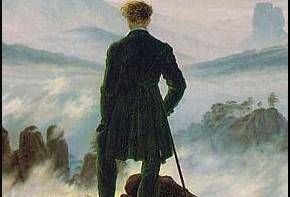 Caspar David Friedrich, Viandante sul mare di nebbia, 1818, Amburgo, Kunsthalle