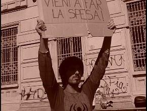 La manifestazione degli studenti della Paolo Grassi