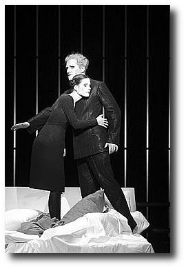 Christina Drechsler, Stefan Kurt (photo: Lesley Leslie-Spinks - berliner-ensemble.de)