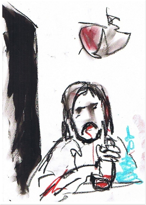 Alberto Astorri disegnato da Renzo Francabandera