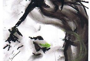 Elena Russo Arman in un disegno di Renzo Francabandera