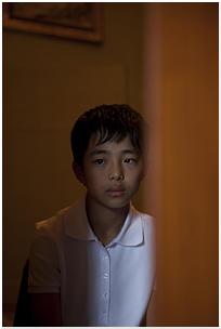 A boy inside the boy