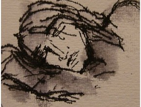 Disegno per 'Amleto' di Danio Manfredini