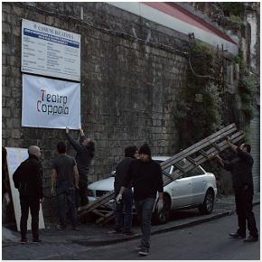 L'occupazione stamattina del Teatro Coppola di Catania