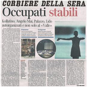 L'articolo di Laura Martellini sul Corriere della Sera