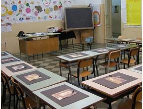 Lezione di classe alla scuola C. Battisti di Lecce