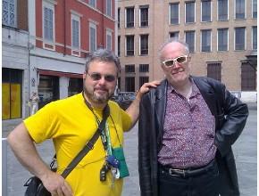 Francabandera e Bianchi in piazza XX Settembre a Modena
