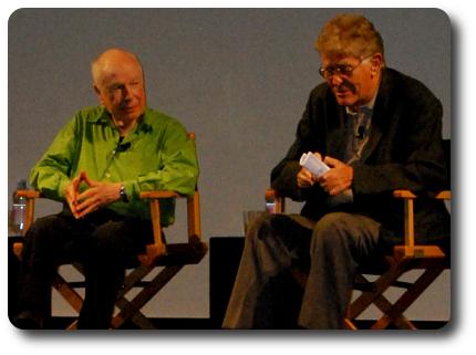 Peter Brook e Ermanno Olmi (photo: Maria Vittoria Bellingeri - klpteatro.it)