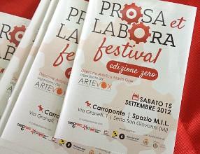 Prosa et Labora Festival 2012 (photo: klpteatro.it)