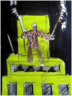 Edipo re di Marcido Marcidorjs e Famosa Mimosa in un disegno di Renzo Francabandera