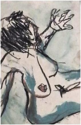 Lo stupro di Lucrezia in un disegno di Renzo Francabandera