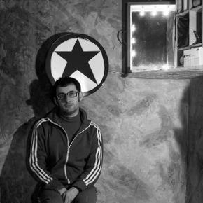 Timpano nella cella ricavata al Teatro dell'Orologio (photo: facebook.com/daniele.timpano.3)