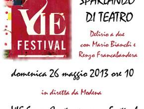 Sparlando di Teatro da Vie 2013