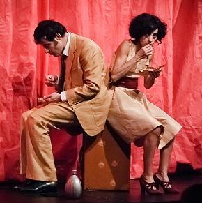 Timpano e Frosini nello spettacolo