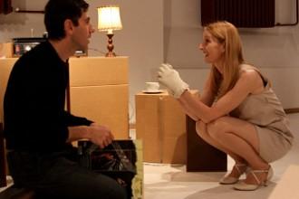 Daria Deflorian e Antonio Tagliarini in scena