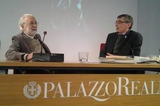 Luca Ronconi e Antonio Calbi durante il Festival di Regia
