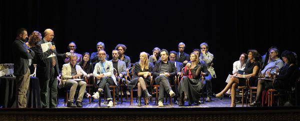 I membri dell'associazione Nazionale Critici Teatrali nella seduta del premio 2013 a Lecce