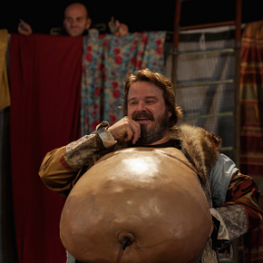 Giuseppe Battiston durante le prove del Falstaff (photo: Mario Spada)