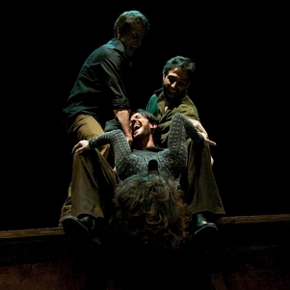 Morte di Zarathustra: Alessandro Romi, Luca Donatiello, Francesca Melis, Felice Siciliano (photo: teatroakropolis.com)