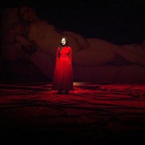 Angélica Liddell in un momento dello spettacolo