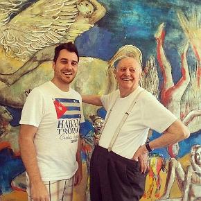 Davide Sannia insieme a Dario Fo ad Alcatraz