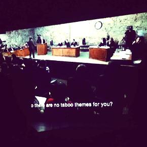 La proiezione di The Moscow Trials di Milo Rau durante il FIT