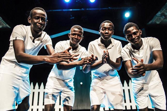 I quattro cugini del Mali che hanno partecipato al progetto (photo: Paolo Galletta)