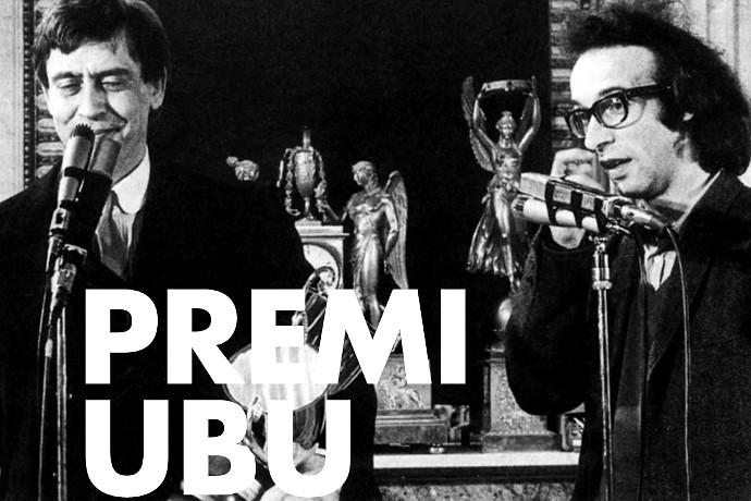 Carmelo Bene e Roberto Benigni alla 2^ edizione del Premio Ubu