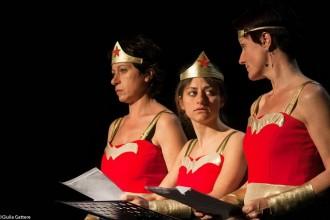Le tre protagoniste di Wonder woman (photo: Giulia Gattere)