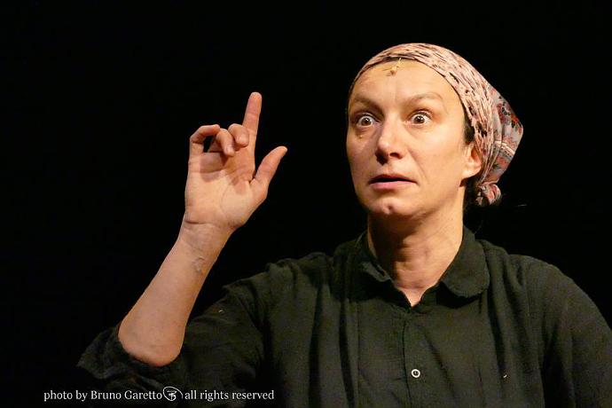 Arianna Scommegna al Cubo (photo: Bruno Garetto)