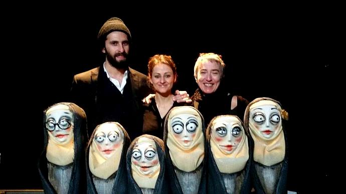 Girolamo Lucania, Marta Cuscunà, Silvia Limone e le Clarisse (photo: Vittoria Lombardi)