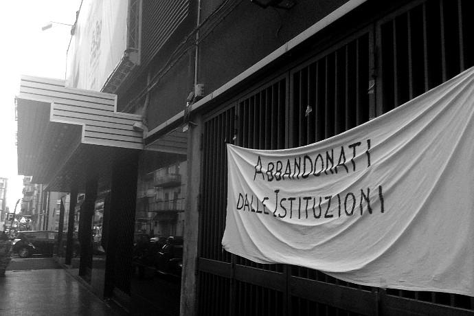 L'entrata del teatro Verga occupato (photo: Maria Vignolo)