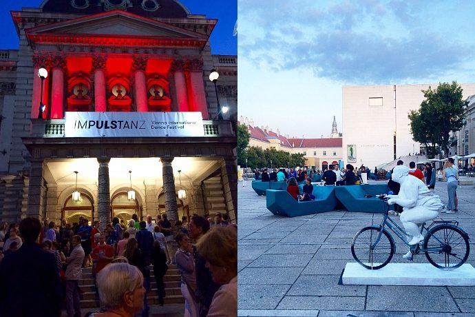 Due immagini dall'Impulstanz di Vienna (photo: Simona Cappellini)