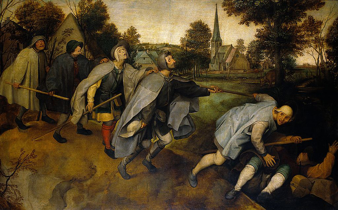 La parabola dei ciechi di Bruegel il Vecchio
