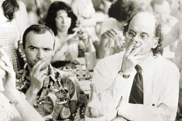 Simone Carella e Allen Ginsberg a Castel Porziano nel 1979