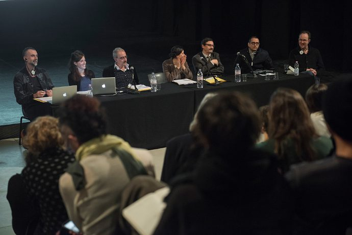 I protagonisti del convegno RE:Search Dance Dramaturgy (photo: Andrea Macchia)