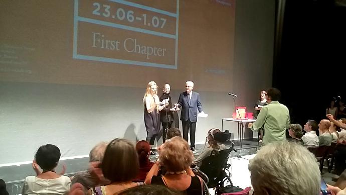 La premiazione di Lucinda Childs (photo: Rita Borga)