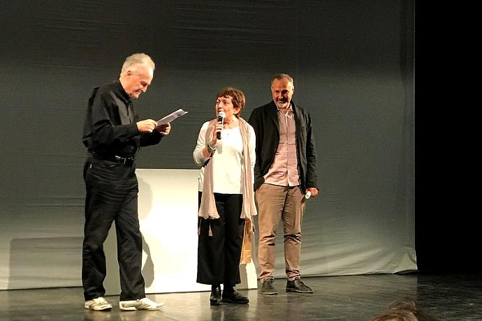 Mario Bianchi insieme a Teatro Crest