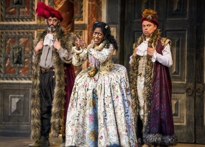 As You Like It al Shakespeare's Globe diretto da Federay Holmes e Elle While. (photo ©Tristram Kenton)
