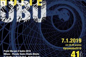 Premio Ubu 2018. I vincitori