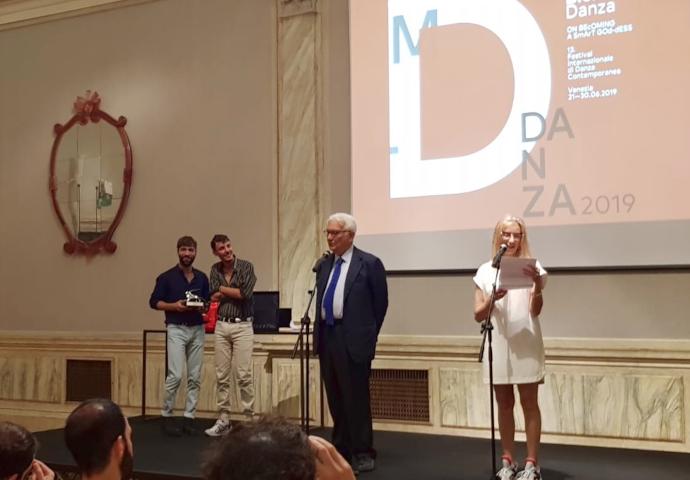 Théo Mercier e Steven Michel nel momento della premiazione (photo: RIta Borga)