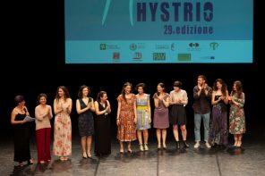 Un momento della premiazione del Premio Hystrio 2019
