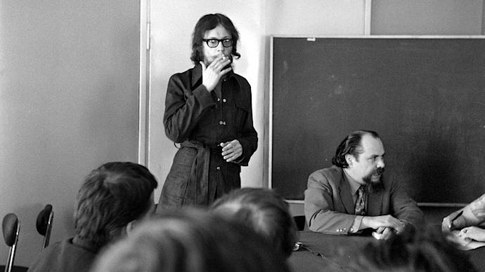 Breslavia, 5 luglio 1972. Jerzy Grotowski e Ludwik Flaszen (photo arch. PAP/Grzegorz Kurzajczyk)