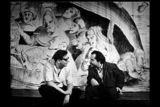 Jerzy Grotowski e Ludwik Flaszen, 1960 (ph. @Leonard Olejnik)