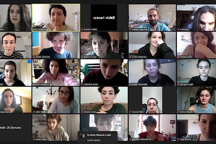 I partecipanti alla residenza