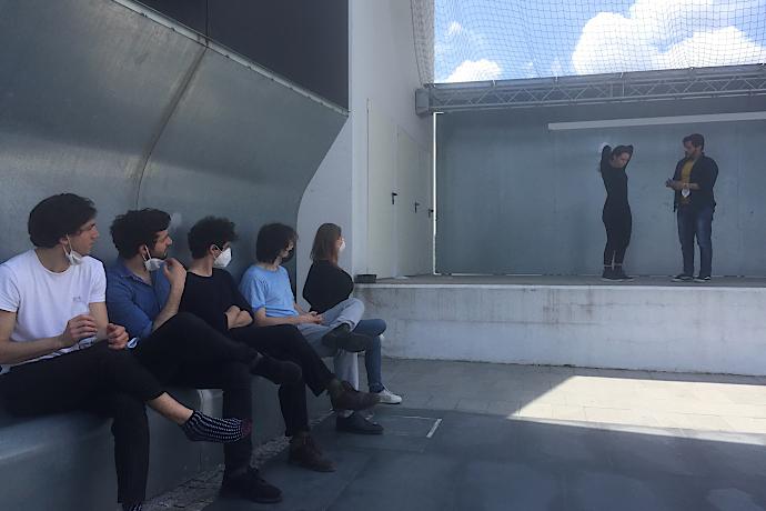 Un momento delle audizioni a Erba