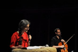 Esercizi per voce e violoncello (photo: Nicolo Cecchella)